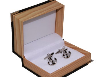 Men's Anchors Cufflinks and Gift Box