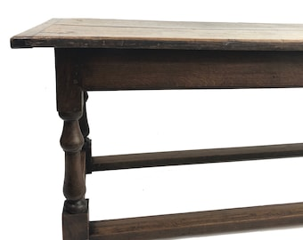 8 Ft Antique English Oak Refectory Table C1850