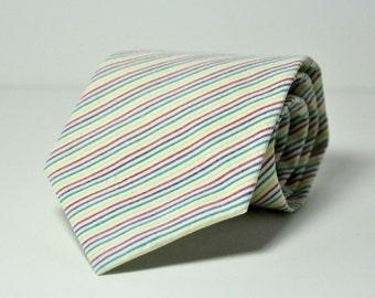 Rainbow Seersucker Men's Necktie