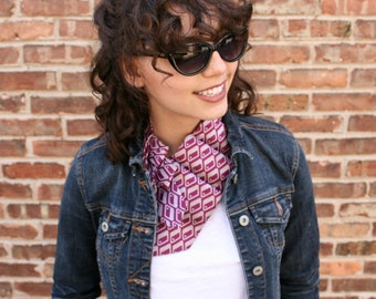 Womens Necktie Scarf - Necktie Necklace - Mothers Day Gift - Hipster Clothing - Pink Lauren Scarf. 06