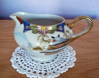 Vintage Nagoya Nippon Hand-Painted Porcelain Creamer