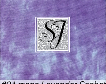 17x23 hand tie dyed #24 count Needlepoint Canvas #24 Congress Cloth LAVENDER SACHET Blue Purple background for you to stitch