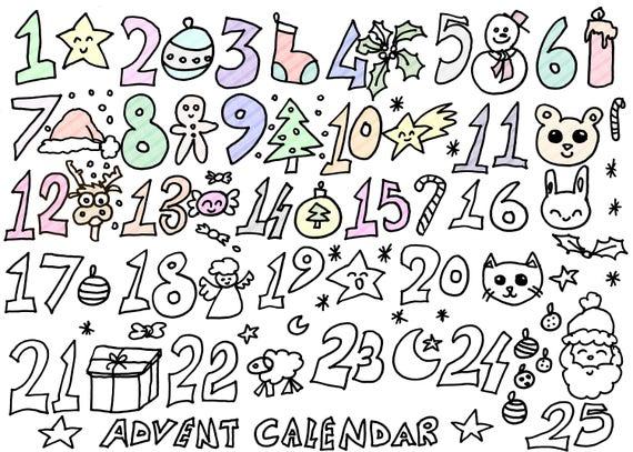 Calendario Dell Avvento Da Stampare With Calendario Dell Avvento Da