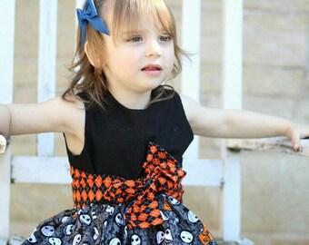 Nightmare Before Christmas Dress, Jack Skellington, Argyle, Toddler Dress, Baby Dress, Geeky Baby, Fandom, Geeky Dress, Halloween, Dress Up
