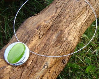 Green pendant Choker Necklace