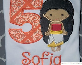 Custom Girls Moana Cutie Birthday Shirt ~ Embroidered, Applique, Monogrammed ~ Many Sizes Available!