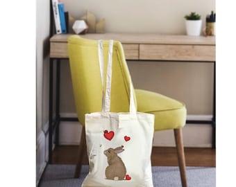 Easter bunny bag, easter bag, tote bag canvas, easter tote bag, canvas tote bag, easter tote, bunny bag, canvas tote, tote canvas, bag bunny