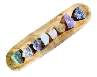 Beginner Crystal Kit-Raw Crystal Set-Healing Crystal Set-Chakra Crystal Set-Amethyst Cluster-Raw Crystals-Wholesale Crystals-Bulk Crystals