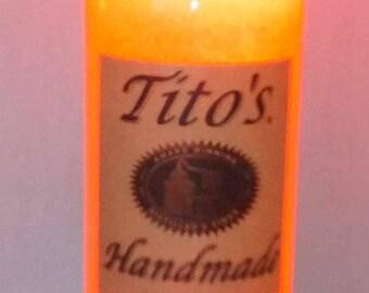 One (1) Tito's Handmade Vodka Liquor Bottle L.E.D. Lamp 16 colors RGB Remote Controlled