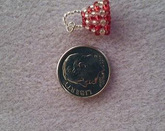 Mini Silverlined Red/Clear Silverlined Handbag