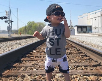 Monochrome Crown Baby + Toddler Harem Shorts