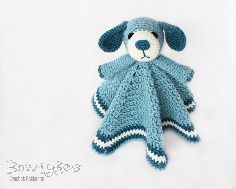 Dog Lovey CROCHET PATTERN instant download - blankey, blankie, security blanket, puppy