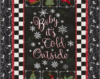 Baby Its Cold Out There Lap Quilt ePattern, 5124-1e, Winter quilt, lap quilt pattern, panel quilt pattern, christmas quilt pattern