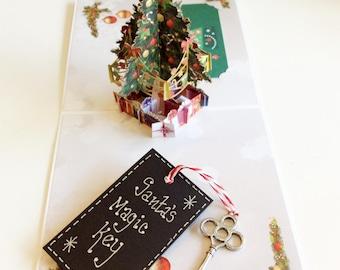 Handmade Metal Vintage Style Christmas Eve Santa's Magic Key