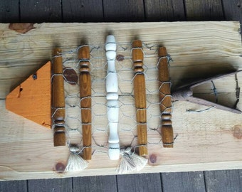 Rustic Fish Art From Reclaimed Materials