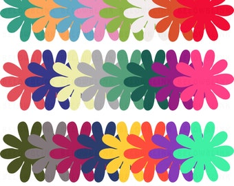Daisy Flowers Digital Clip Art, Commercial Use - Instant Download - DP255