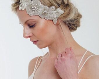 VALENTINA // Bridal Headpiece, Bridal Comb, Great Gatsby, Art Deco style, Rhinestones, Antique Silver