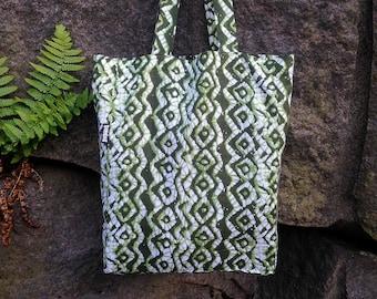 Eco batik tote shopping bag