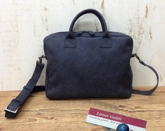Sale!!! Black Leather laptop bag leather messenger bag women 13 15 intch computer bag Men's laptop bag MacBook Bag leather briefcase