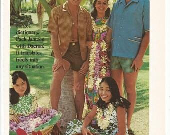 1968 Advertisement Don Meredith and Frank Gifford for Jantzen 60s Celebrity Hawaii Mauna Kea Beach Hotel Dallas Cowboys Wall Art Decor