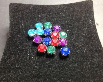 Rhinestone colorful 15 beads