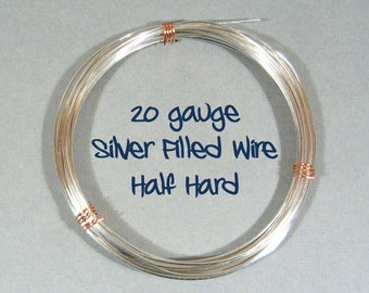 20ga HH Half Hard Silver Filled Wire - Choose Your Length