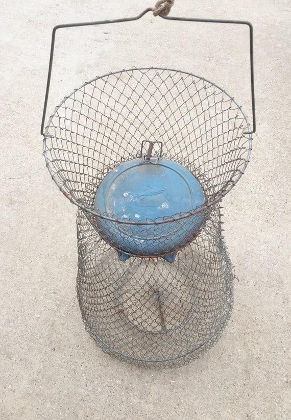 Vintage Wire Fish Basket Vintage Trap Fish Basket Vintage