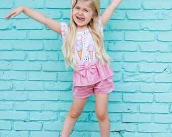 Ice Cream Leotard, Toddler Leotard, Baby Girl Birthday Outfit, Ice Cream Party, Baby Girl Clothes, Gymnastics Leotard, Dance Leotard
