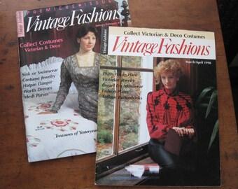 2 1990 Vintage Fashions Magazines