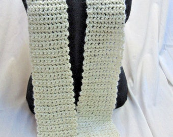 White Wool Scarf 88x4 Extra Long Mans Womans Unique Fathers Day Gift Stylish Fashion Trending Neckscarf Bohemian Organic Natural Soft Warm