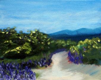 "Desert Path Southwest Art 8 x 10"" Oil on Canvas Original Painting with COA"