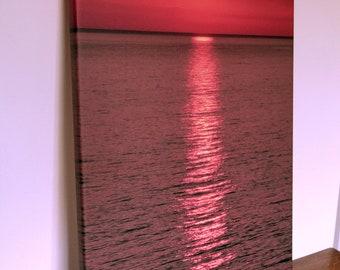 Sea Sunset Reflection Canvas Print 40 x 60 cm