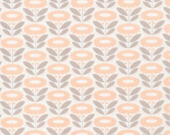 Lazy Daisy Coral - Organic Cotton Poplin - Morning Song Collection (5208.52.00.90)