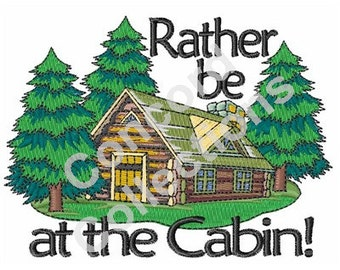 Forest Cabin Machine Embroidery Design