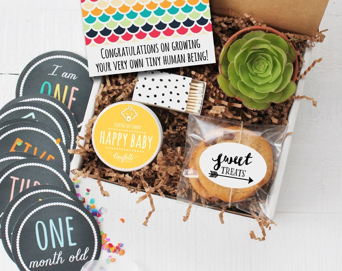 Congratulations on Growing Your Very Own Tiny Human Being Gift Box - Congratulations Gift | New Parents | New Baby Gift | New Mom Gift
