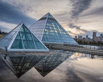 "Muttart Conservatory Postcard 4""x6"" Edmonton, Alberta, Canada."