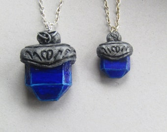 Freya's talisman inspired polymer clay charm necklace *bigger version now available*