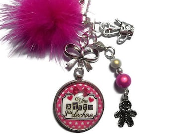 """Bag charm, door keys/home / """"A home that tears"""" / year end gift/birthday/party/thanks/holiday / Christmas"""