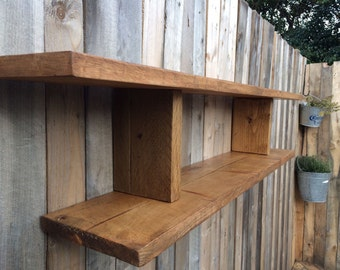 Chunky handmade solid wooden shelf.