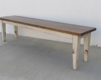 Bench, Table, Reclaimed Wood, Dining Bench, Rustic, Farmhouse, Handmade