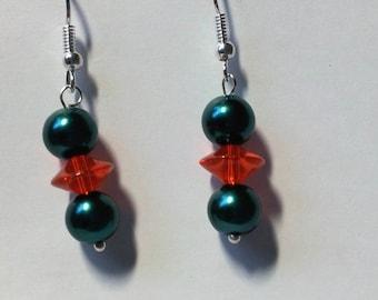 """Earrings """"Red & Green 3"""""""