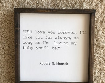 """12""""x 12"""" love you forever"""