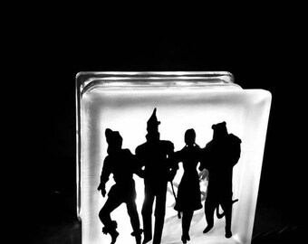 Custom Made Silhoutte Graphic  on Glass Block