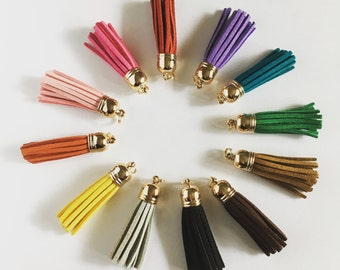 Suede Zipper Pulls - 12 pack