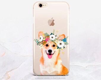 iPhone 8 Case iPhone X Case iPhone 7 Case Corgi Clear GRIP Rubber Case iPhone 7 Plus Clear Case iPhone SE Case Samsung S8 Case U382