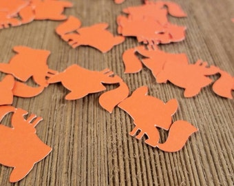 Fox confetti, baby fox decorations, fox baby shower decorations, animal birthday party, fox party, custom confetti, custom party decorations