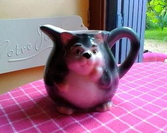 Cat Milk Jug - French vintage ceramics