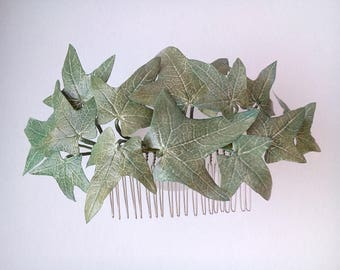 Ivy Comb Floral Comb Hair Comb Green Comb Green Hair Comb Leaf Hair Comb Leaf Comb Bridal Hair Comb Wedding Hair Comb Bridal Comb Leaves
