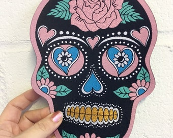 Mexican Sugar Skull Back Patch