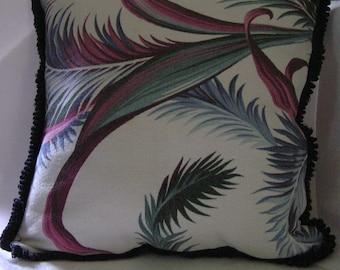 Vintage Bark Cloth Pillow